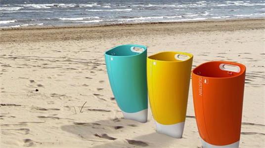 Ji-in Byun ——方便实用的沙滩垃圾桶